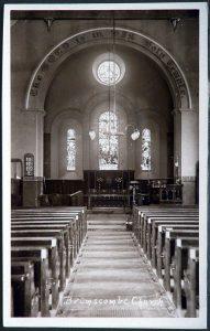 Interior of Holy Trinity, Brimscombe