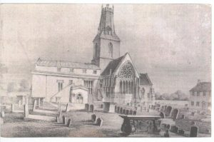 Sketch of Holy Trinity Church before 1840s repairs and restoration