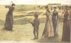 An early illustration of Lady Golfers at Minchinhampton