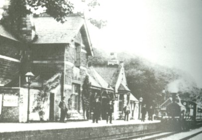 "The ""Donkey"" at Nailsworth Station"