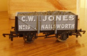 Model rail wagon