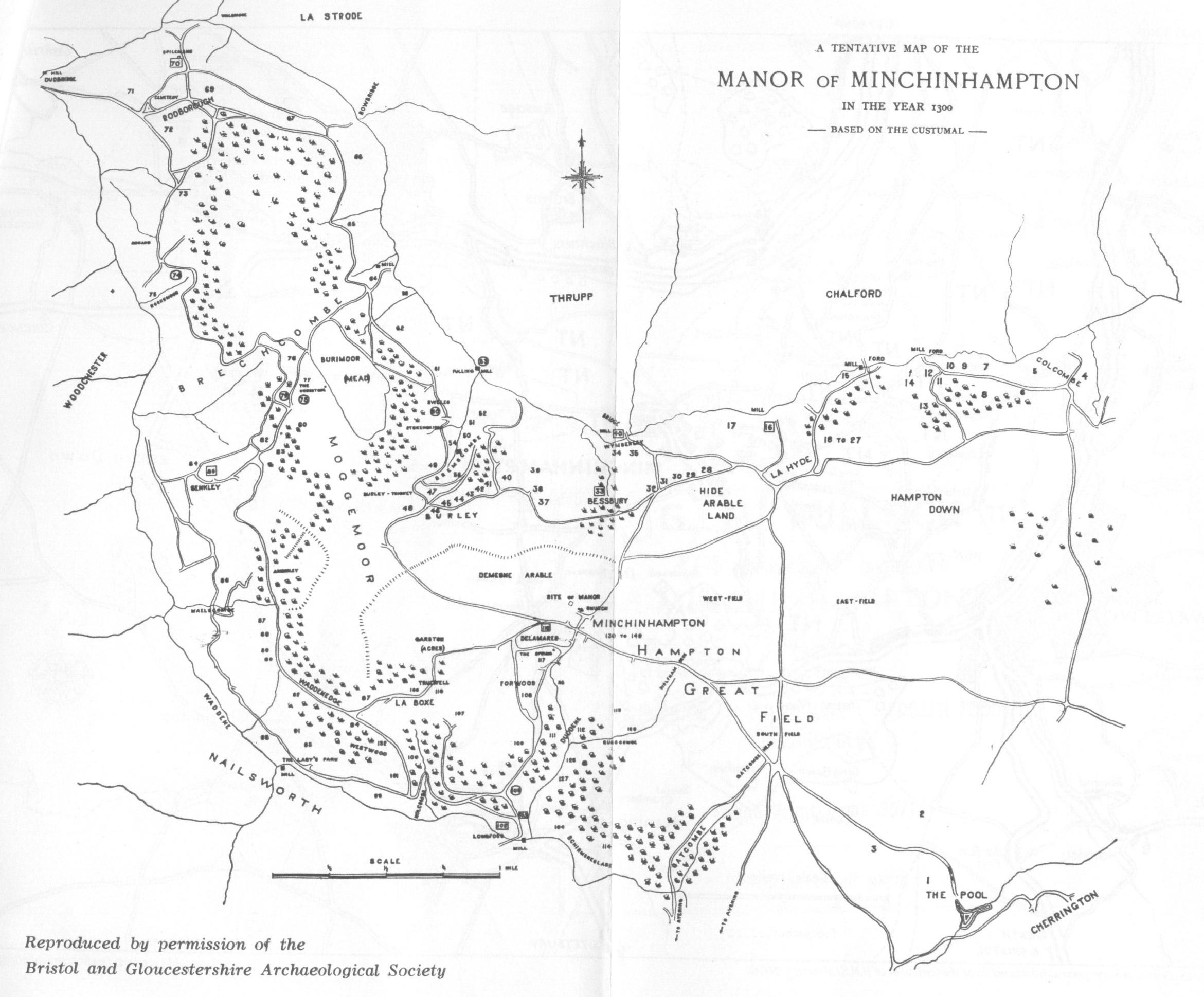 Map of the Manor of Minchinhampton - a possible interpretation