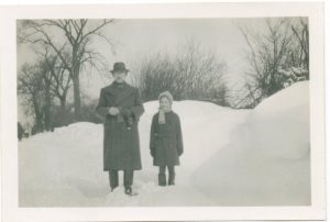 Leonard and Ann Symes Winter 1947