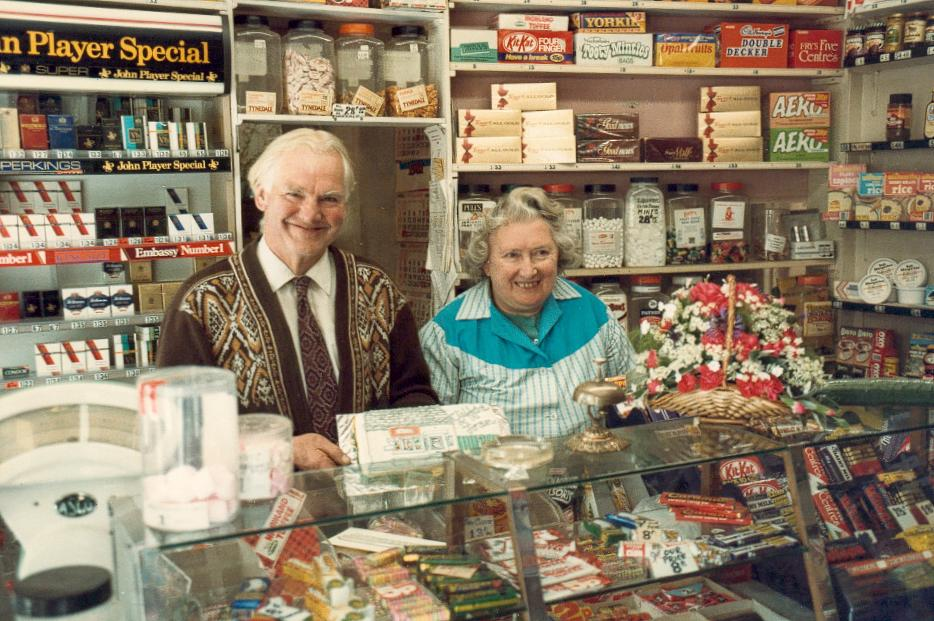 Clifford and Joan Hooper in West End Stores